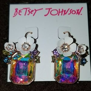 Betsey Johnson Flutterbye Stone Earrings